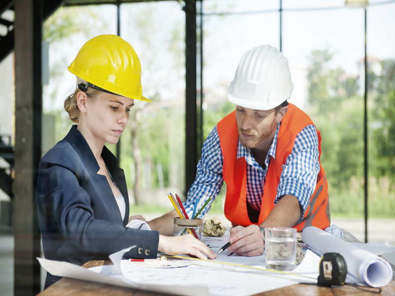 Specialists required for a building project